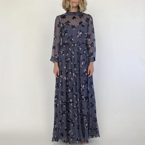 Rebecca Taylor Dresses | Alyssum Floral Maxi S | Poshmark